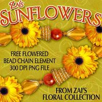 Zai's Floral Collection: Sunflowers Freebie Bead Chain