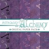 Digital Scrapbooking Papers - Astrology Alchemy