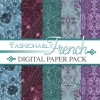 Digital Scrapbooking Papers - Fashionably French