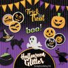 Digital Scrapbooking Kit - Halloween Glitter