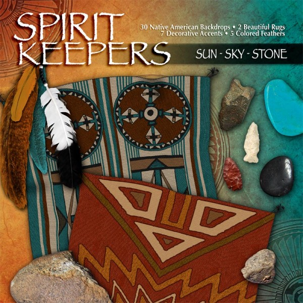 Digital Scrapbooking Kits - Sun Sky Stone