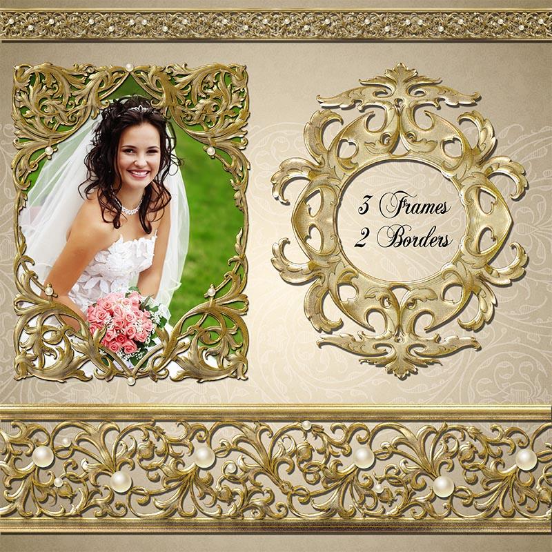 Wedding Scrapbook Kit Wedding Gold Scrapbooking Kit