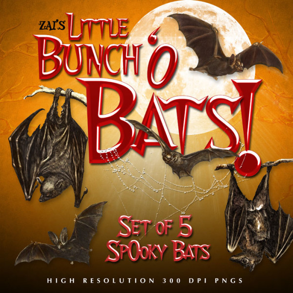 Digital Scrapbooking Kits - Little Bunch o' Bats