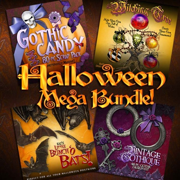 Digital Scrapbooking Kits - Halloween Mega Bundle