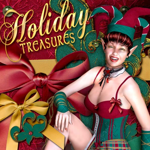Digital 3D Texture Sets - Holiday Treasures
