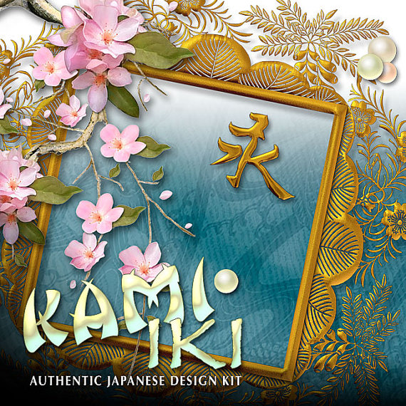 Digital Scrapbooking Kits - Kami Iki Japanese
