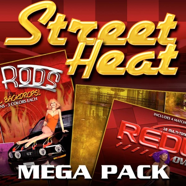 Digital Scrapbooking Papers - Street Heat Bundle