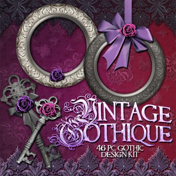 Digital Scrapbooking Kits - Vintage Gothic