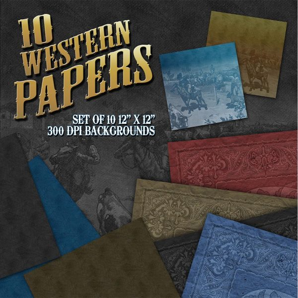 Digital Scrapbook Papers - Western Papers