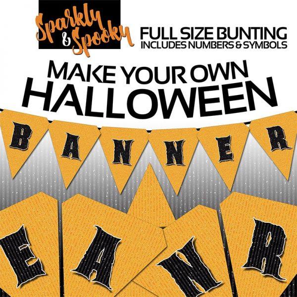Party Printable - Halloween Bunting Alphabet