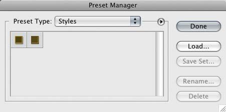 Preset Manager photoshop scrapbooking