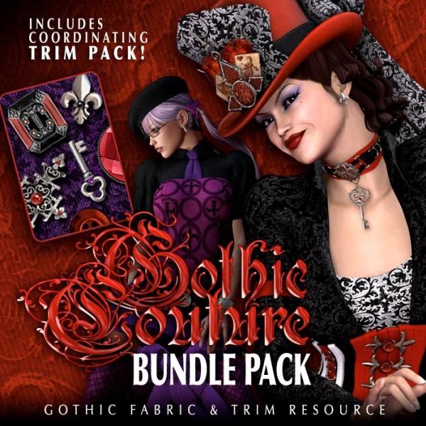 Digital 3D Texture Set - Gothic Couture Bundle