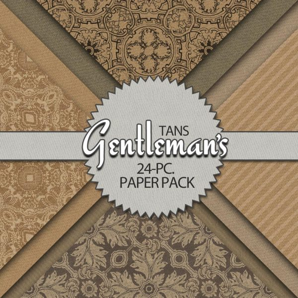Digital Scrapbook Papers - Gentleman's Tans