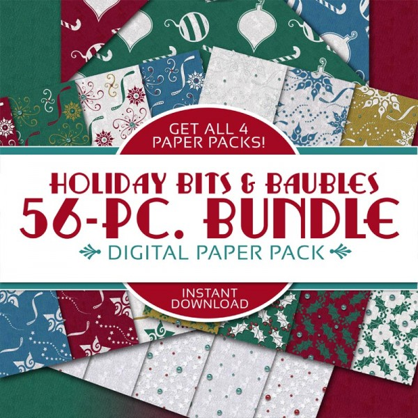 Digital Scrapbooking Papers - Holiday Bits & Baubles Bundles