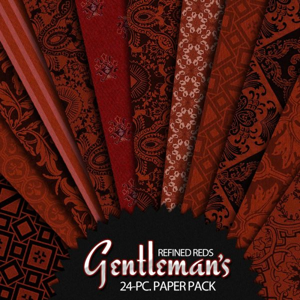 Digital Scrapbook Papers - Gentleman's Refined Reds