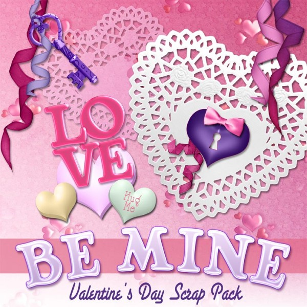 Digital Scrapbooking Kits - Be Mine Valentine's Day