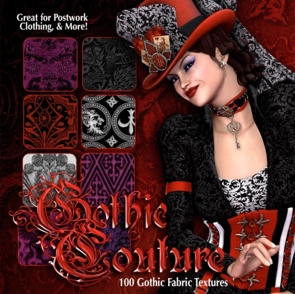Digital 3D Texture Set - Gothic Couture