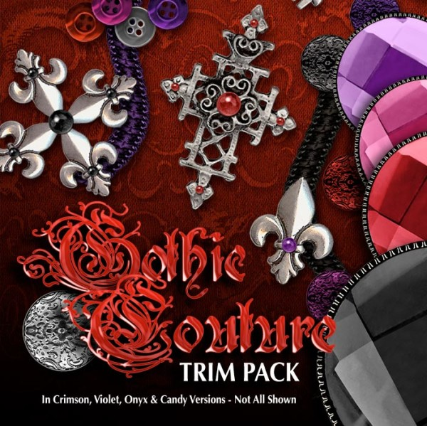 Digital 3D Textures - Gothic Couture Trim Pack