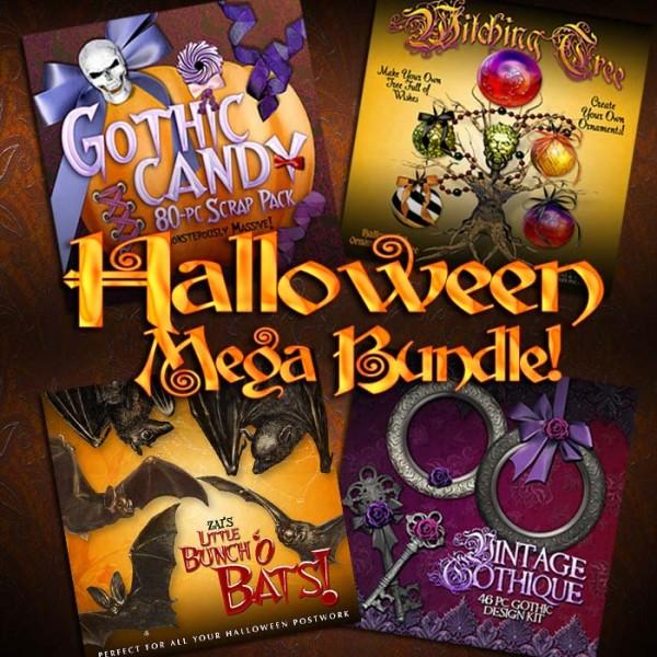 Digital Scrapbooking Kits - Halloween Mega Bundle