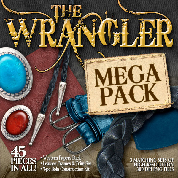 Digital Scrapbooking Kits - The Wrangler Mega Pack